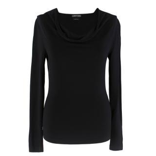 Tom Ford Women's Black Draped Sweater