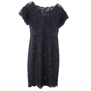 Dolce & Gabbana Fitted Sheer Lace Dress
