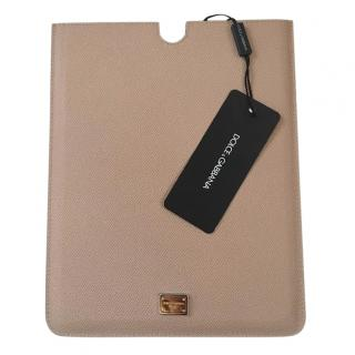 Dolce & Gabbana Nude Grained Leather iPad Cover