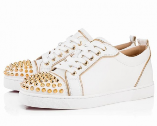 Christian Louboutin Junior Zip Spikes low-top trainers