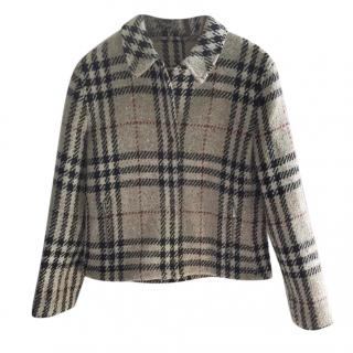 Burberry Wool Check Short Jacket