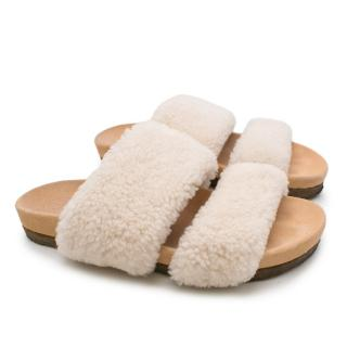 Tory Burch Wool Shearling Slides