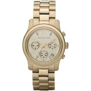 Michael Kors Runway Chronological Gold Tone Wrist Watch