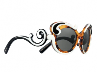 Prada Minimal Baroque Tri-Colour Butterfly Sunglasses