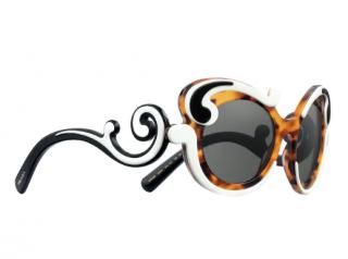 Prada Minimal Baroque Tri-Colour Butterfly Sunglasses