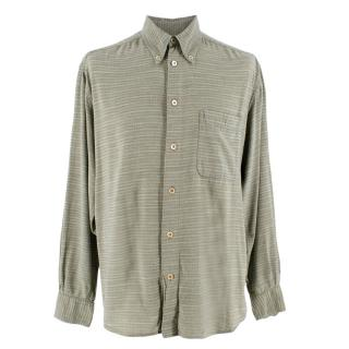 Ermenegildo Zegna green checked cotton shirt
