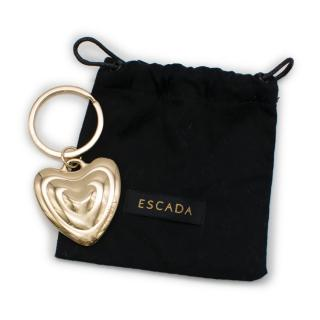 Escada Gold-Toned Heart Pendant Keyring