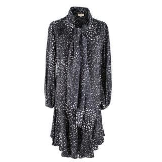 Beulah London Black & White Silk Blythe Dress