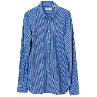 Burberry Blue Gingham Poplin Shirt