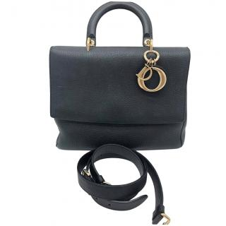 Dior Black & Pink Be Dior Leather Top Handle Bag