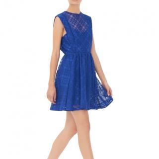 Sandro Blue Lace Mikka Dress