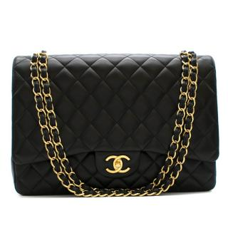 Chanel Black Quilted Lambskin Maxi Classic Flap Bag
