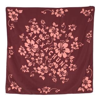 Alexa Chung Burgundy Floral Silk Scarf