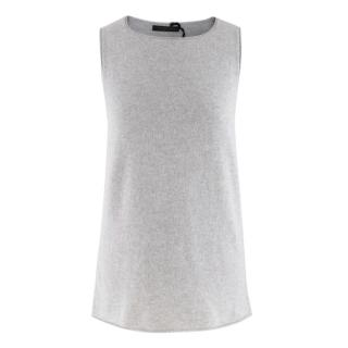 Lamberto Losani Grey Cashmere Vest Top