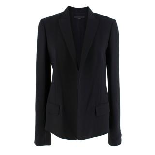Alexander Wang Black Blazer with Cropped Velvet Back