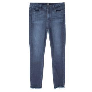 Paige Straight Leg Dark Blue Jeans