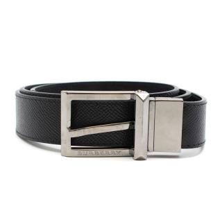 Burberry black Grained leather belt