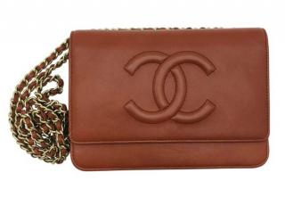 Chanel Brown CC Wallet On Chain