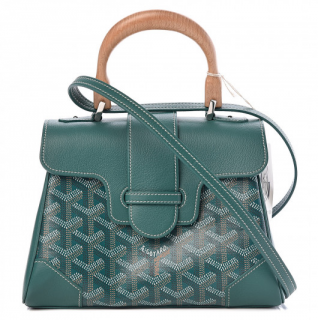 Goyard Mini Saigon Top Handle Bag in Green