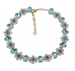 Dolce & Gabbana Blue & White Crystal Necklace