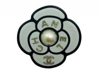 Chanel Enamel Camellia Pin Brooch