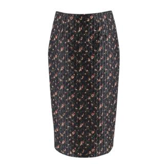 Victoria Beckham Black Floral Jacquard Pencil Skirt