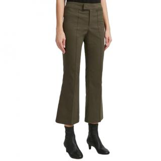 Isabel Marant Green Lyre Cropped Trousers