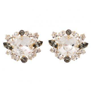 Dolce & Gabbana Crystal Natale Round Earrings