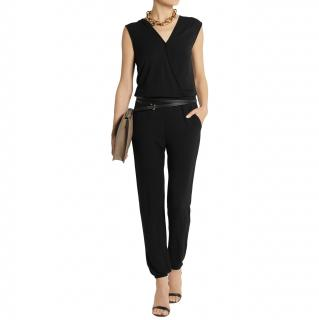 Lot 78 Black Knit V-Neck Jumpsuit