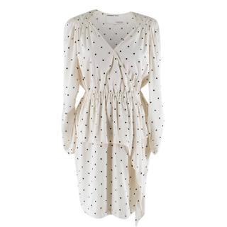Designers, Remix Charlotte Eskildsen Cream Square Print Dress