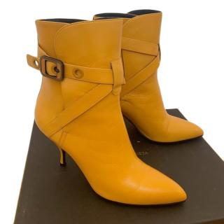 Bottega Veneta Yellow Buckle Wrap Ankle Boots