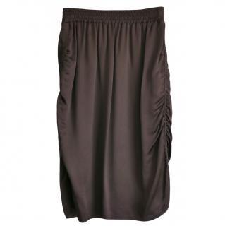 Lanvin Brown Draped Skirt