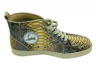 Christian Louboutin Python Louis High Top Sneakers