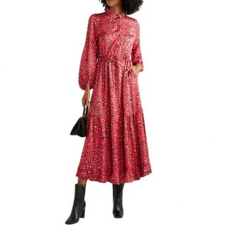 Munthe Haylin leopard-print ruffled satin maxi dress