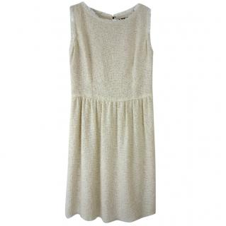 Dolce & Gabbana Beige Wool Blend Knit Sleeveless Dress