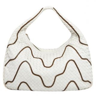 Bottega Veneta Intrecciato Chain Detail Hobo Bag