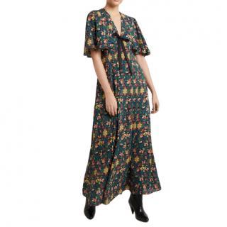 Three Floor Navy Patterned Misamis Maxi Dress