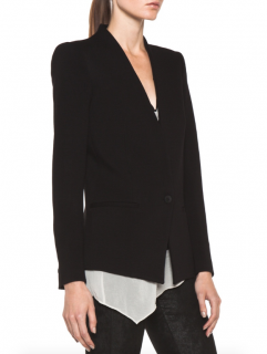 Helmut Lang Single Button Black Tailored Jacket