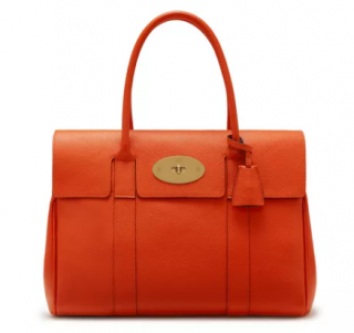 Mulberry Grained Leather Orange Bayswater