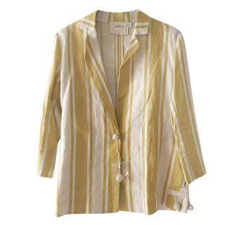 Max & Co Yellow Linen Striped Jacket