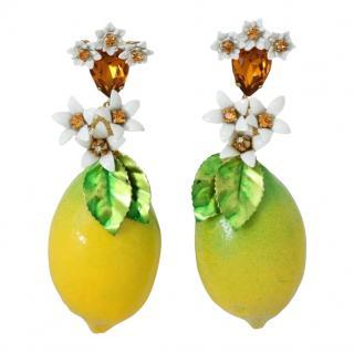 Dolce & Gabbana Crystal Lemon Drop Earrings