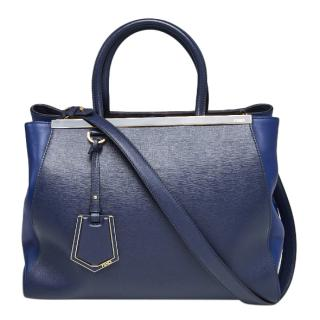 Fendi Blue leather 2Jours Tote Bag