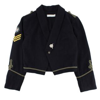 Stella McCartney Kids Navy Cropped Military Jacket