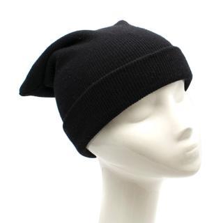 Acne Studios Black Donald Beanie Wool Hat