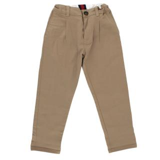 Gucci Kids Tan Chinos
