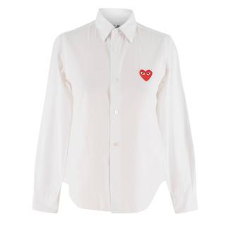 Comme De Garcons Play Classic Heart White Shirt