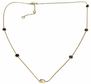 Fragments Sapphire & Diamond Necklace