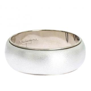 Dolce & Gabbana Metallic silver leather bracelet