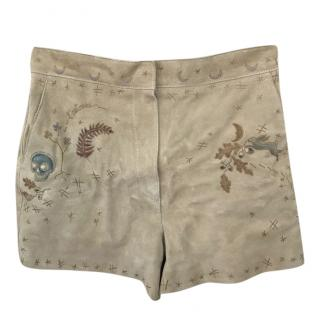 Dior Hand Painted Suede Shorts