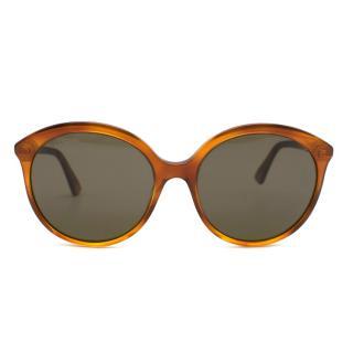 Gucci Brown Round Sunglasses GG0257S